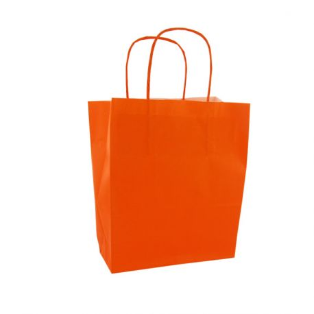 Sac papier kraft orange, par 50