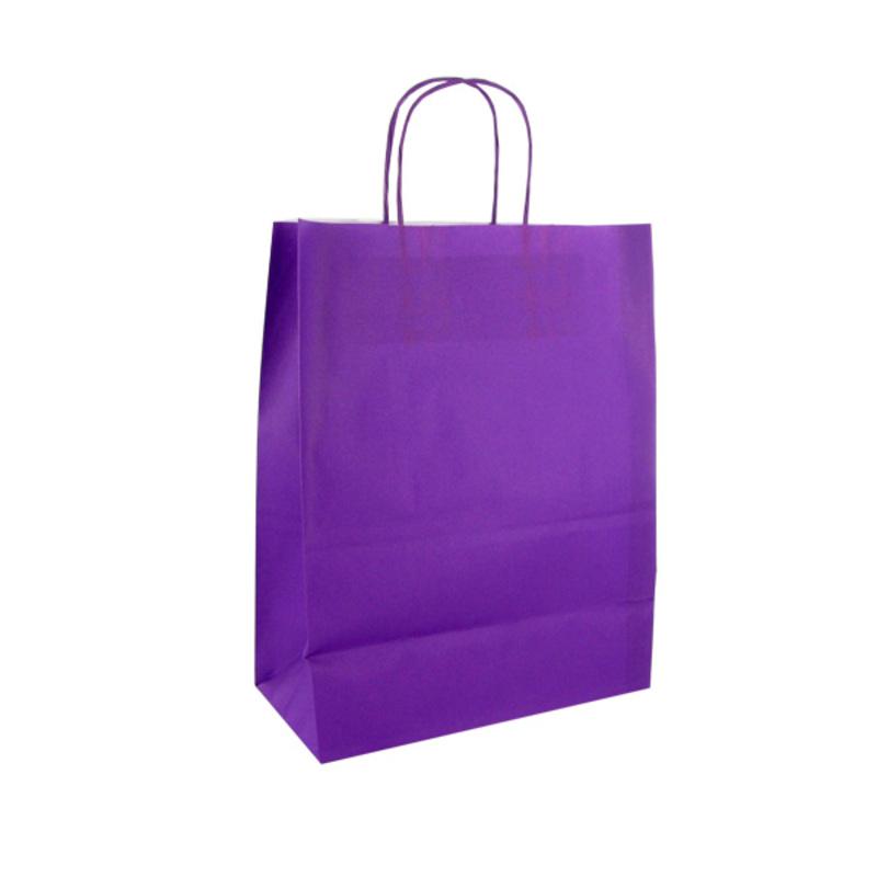 Sac papier kraft violet, par 50