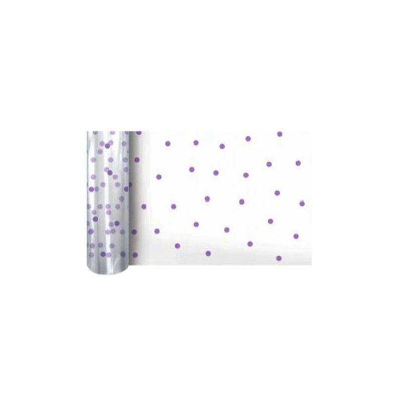 Film polypro Dots purple 0,80 x 100 m