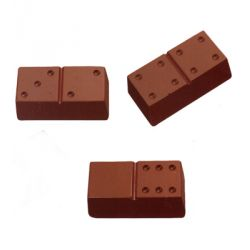 Moule chocolat polycarbonate dominos