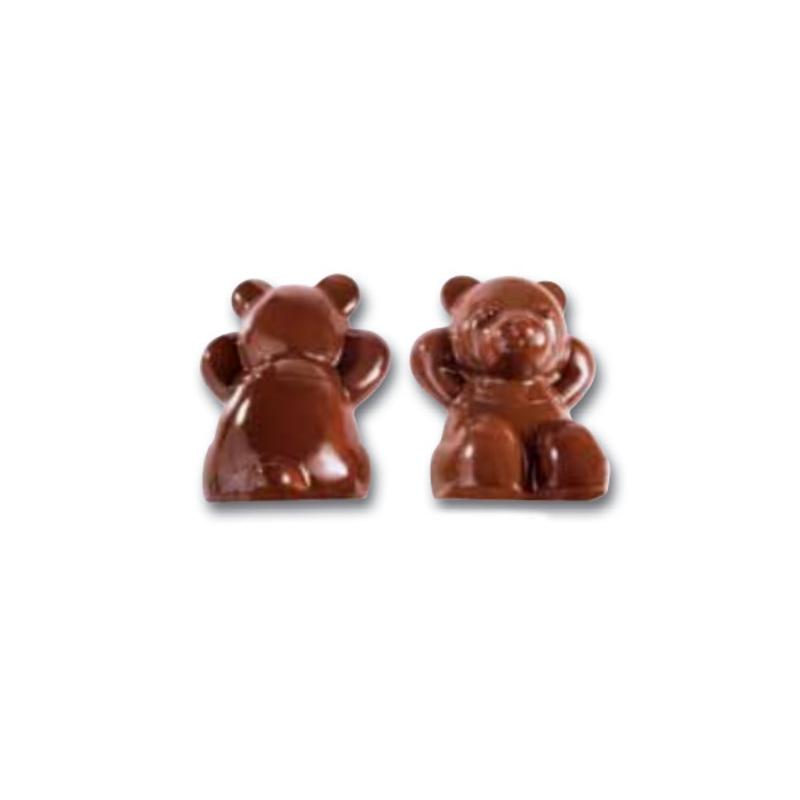 Moule chocolat polycarbonate nounours double