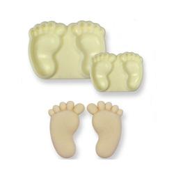 Découpoirs relief pieds (x2)