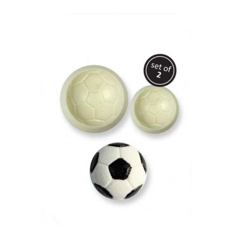 Moule silicone ballon de foot (x2)
