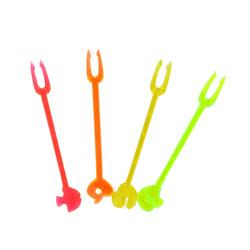 Piques plastique colorés (x100)