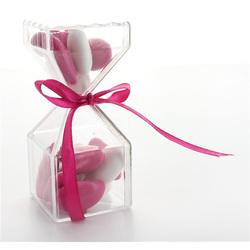 Boîte à dragées bonbon transparente x3