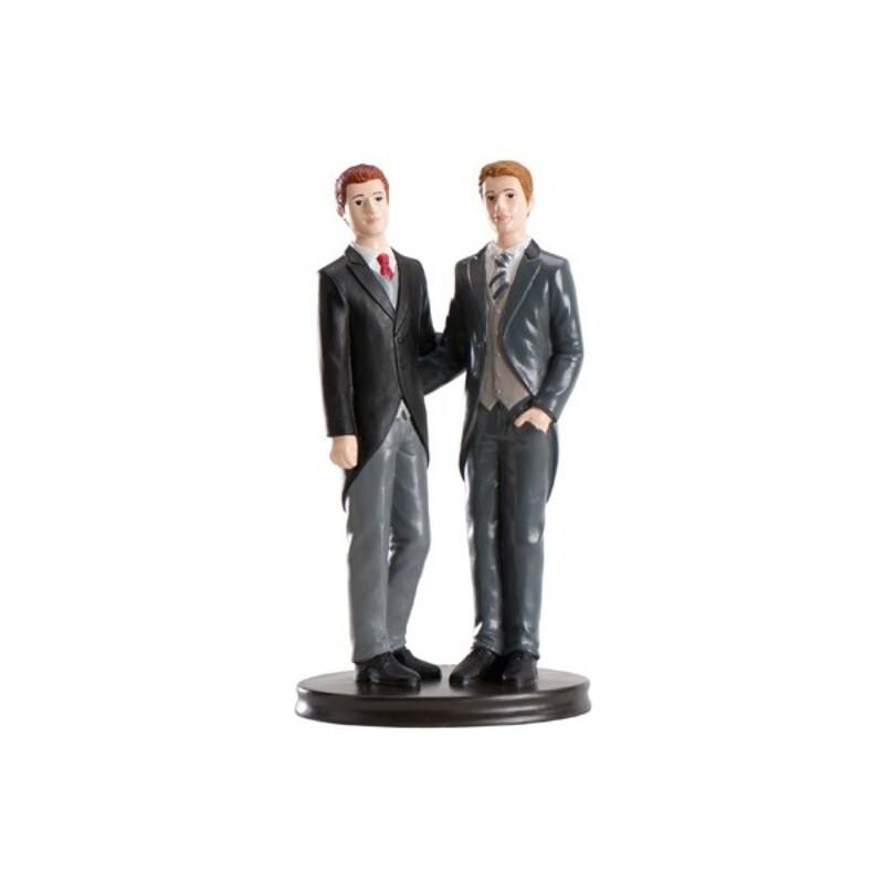 Couple Hommes sur socle