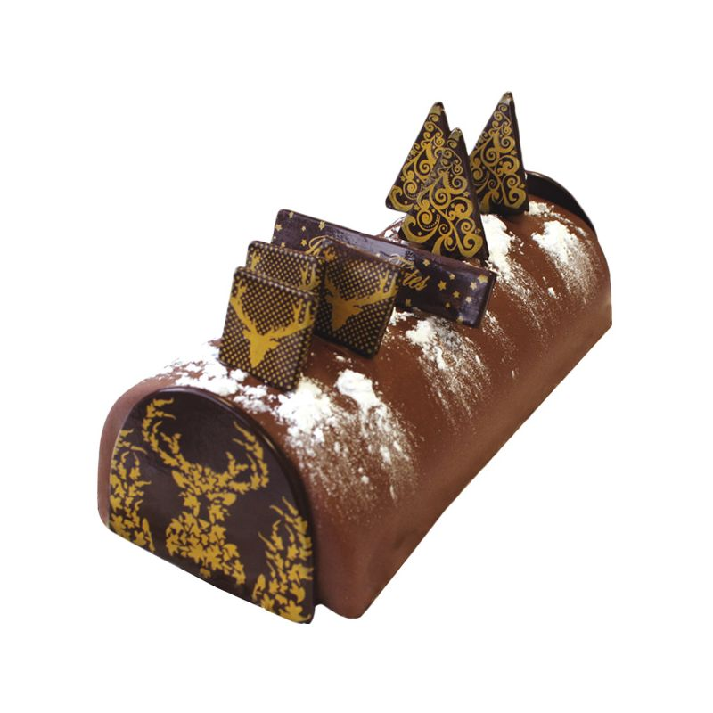 decoration buche de noel en chocolat faire cerf dor cerf dellier. Black Bedroom Furniture Sets. Home Design Ideas