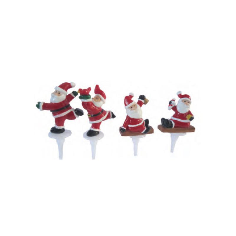 Père Noël assortis sur pique (x48)