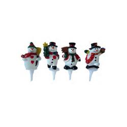 Bonhomme de neige assorti sur pique (x48)