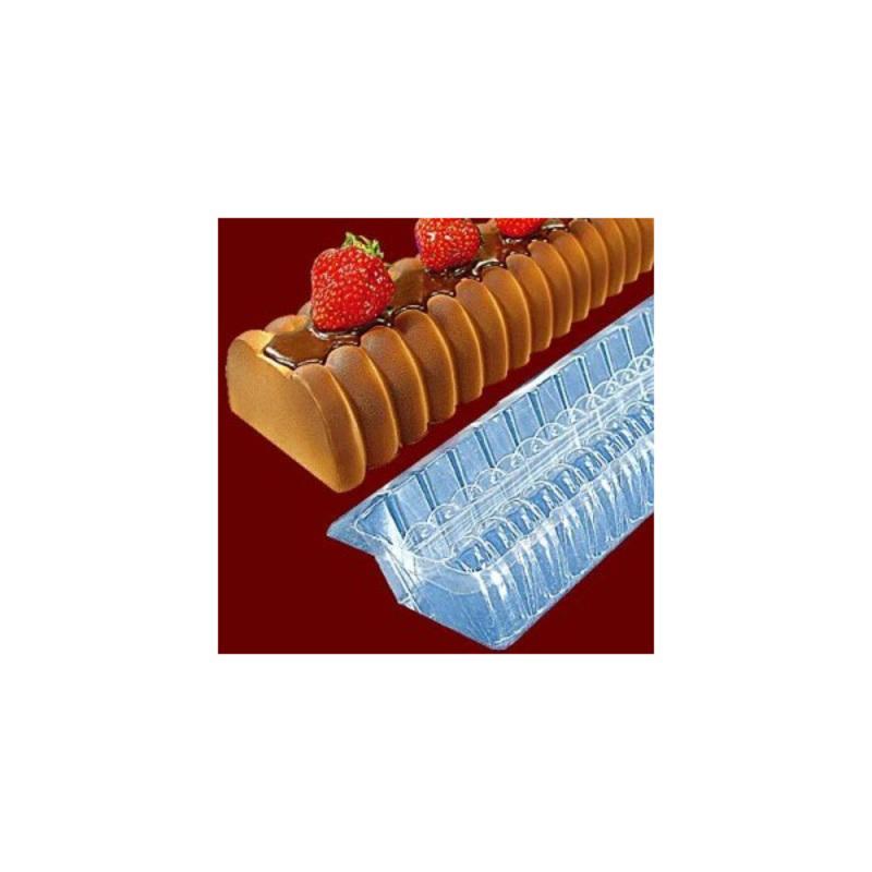 Gouttière à bûche annelée en PVC (x12)