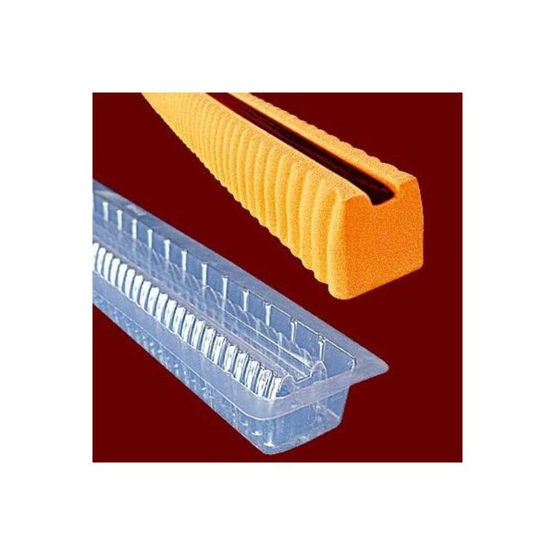 Gouttière à bûchette striée en PVC (x12)