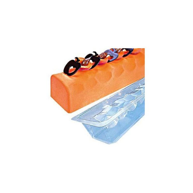 Gouttière à bûche mosaïque en PVC (x12)