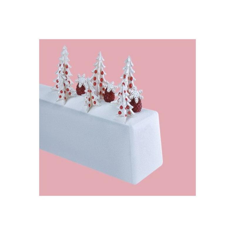 Gouttière à bûche rectangle lisse en PVC (x12)