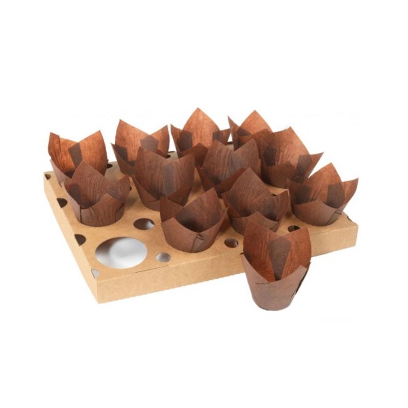 Plaque de cuisson 12 Tulipcups (x5)