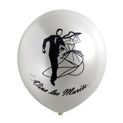 Ballons métal Vive les mariés (x10)
