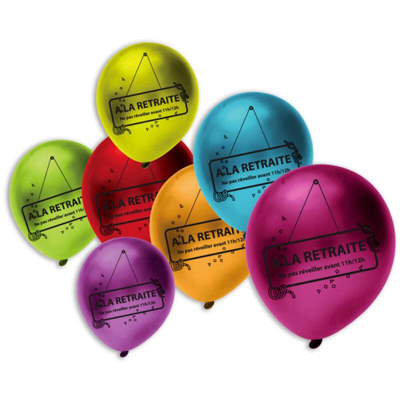 Ballons métal A la retraite (x10)