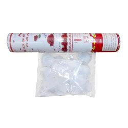 Canon à pétales en tissu blanc 30 cm