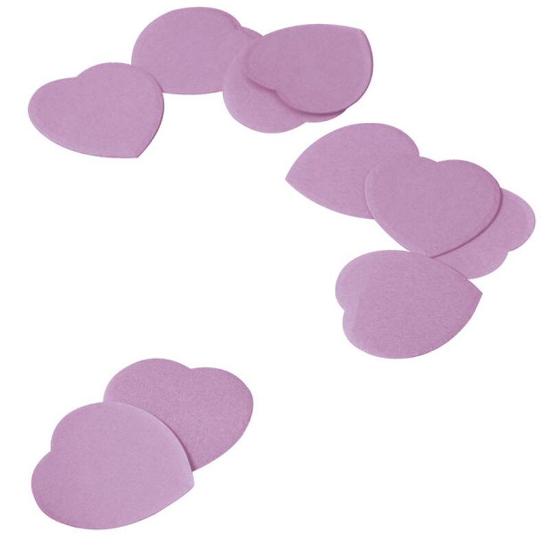 Confettis coeurs lilas 100 g