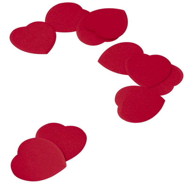 Confettis coeurs rouges 100 g