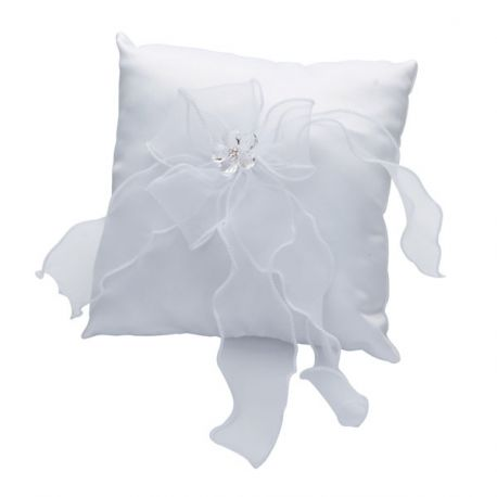 Coussin porte alliances blanc