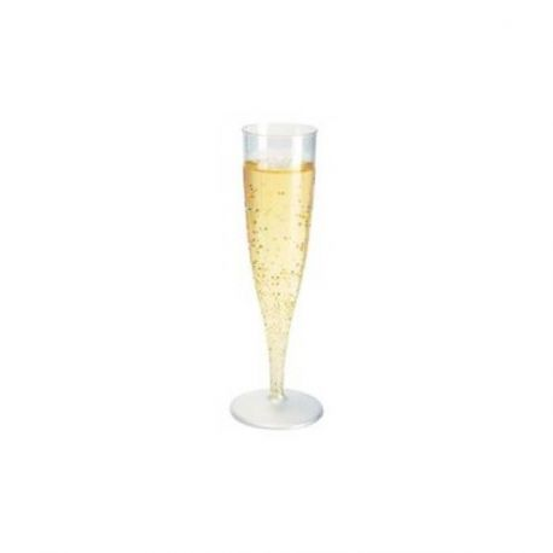 Flûtes à champagne polystyrène transparentes (x100)