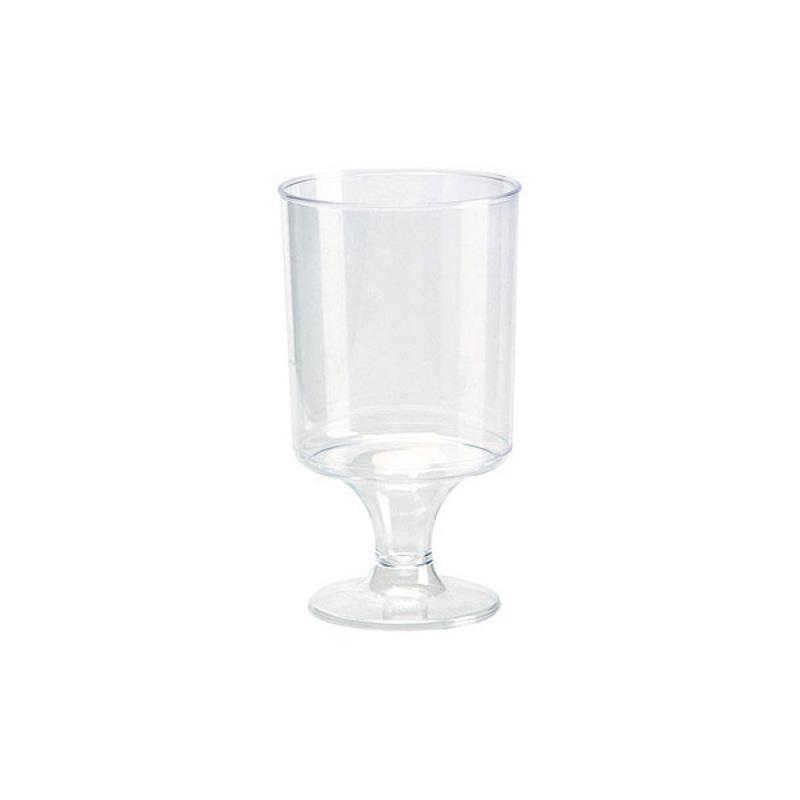 Verres à vin polystyrène transparent (x12)
