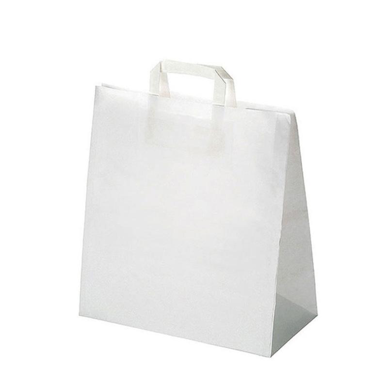 Sac cabas papier kraft blanc (x250)