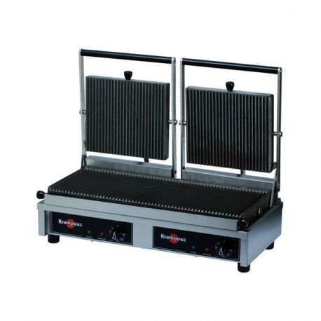 Grill double Easy Clean plaques striées