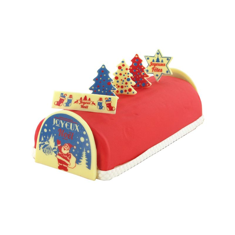 Decoration en chocolat pour buche de noel design d for Decoration buche de noel