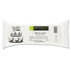 Pâte à sucre blanche arôme vanille Patisdécor 1kg