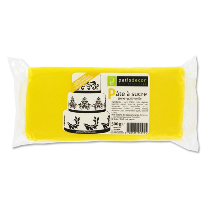 Pâte à sucre jaune Patisdécor 500g