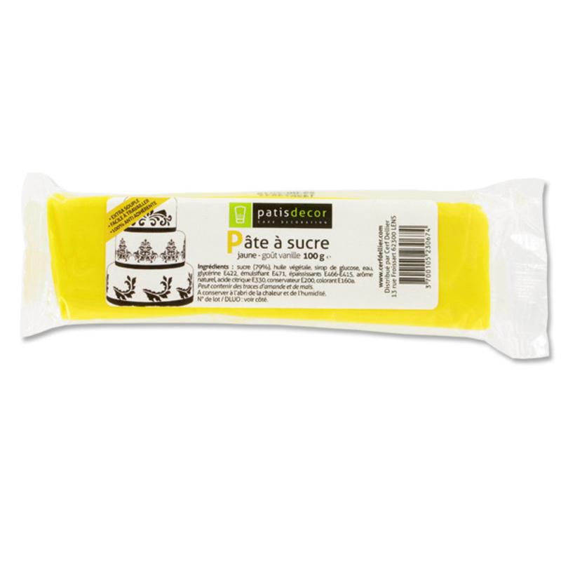 Pâte à sucre jaune Patisdécor 100g