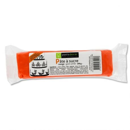 Pâte à sucre orange Patisdécor 100g