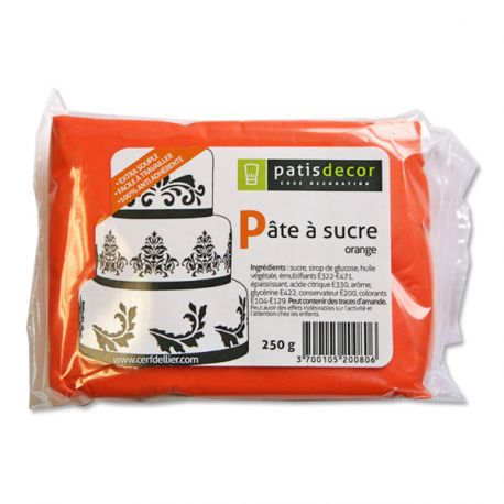 Pâte à sucre orange Patisdécor 250g