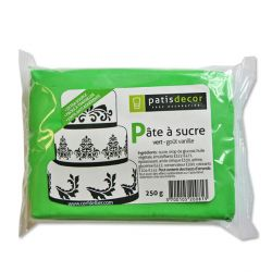 Pâte à sucre vert Patisdécor 250g