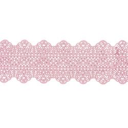 Guirlande de dentelle comestible napperon rose