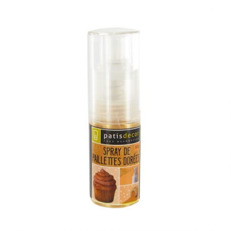 Spray de paillettes dorées Patisdécor 10 g