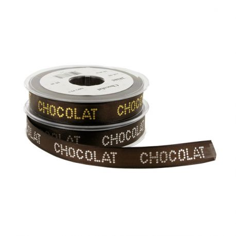 Ruban impression chocolat 16 mm (20 m)