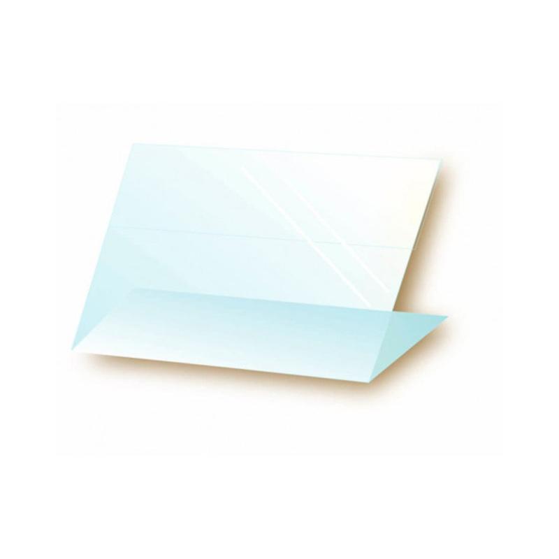 Chevalet translucide plexiglas 6 x 4 cm (x10)