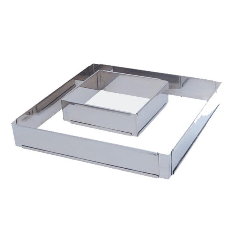 Cadre inox extensible carré 20 à 37 cm