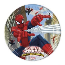 Assiettes en carton Spiderman (x8)