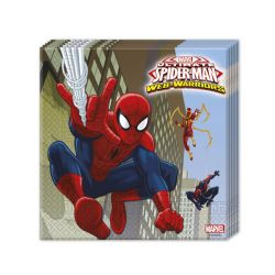 20 Serviettes en papier Spiderman