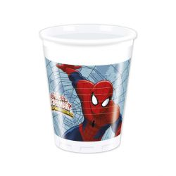 Gobelets en plastique Spiderman (x8)