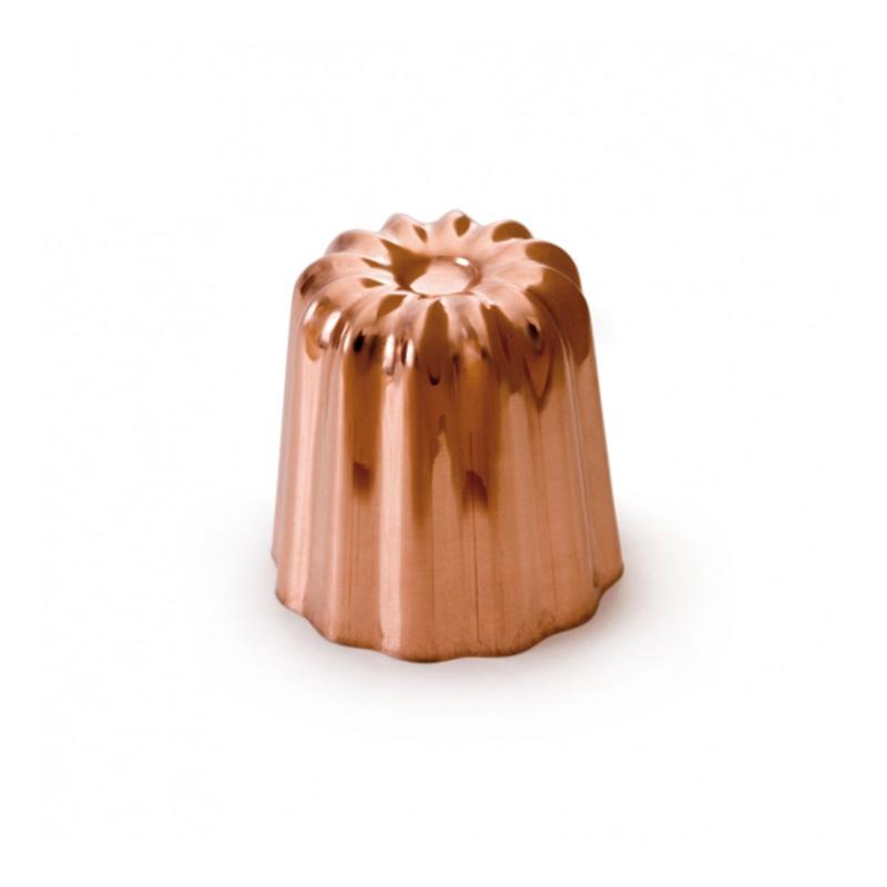 Moule à cannelé cuivre étamé 4,5 cm