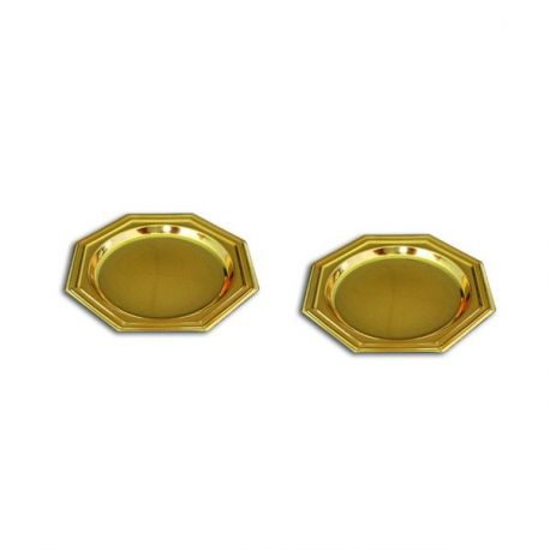 Mini assiette octogonale or (x125)