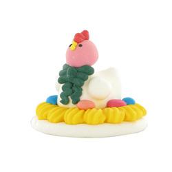 Poule dans son nid en sucre