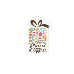 Etiquette adhésive paquet cadeau Plaisir d'offrir (x500)