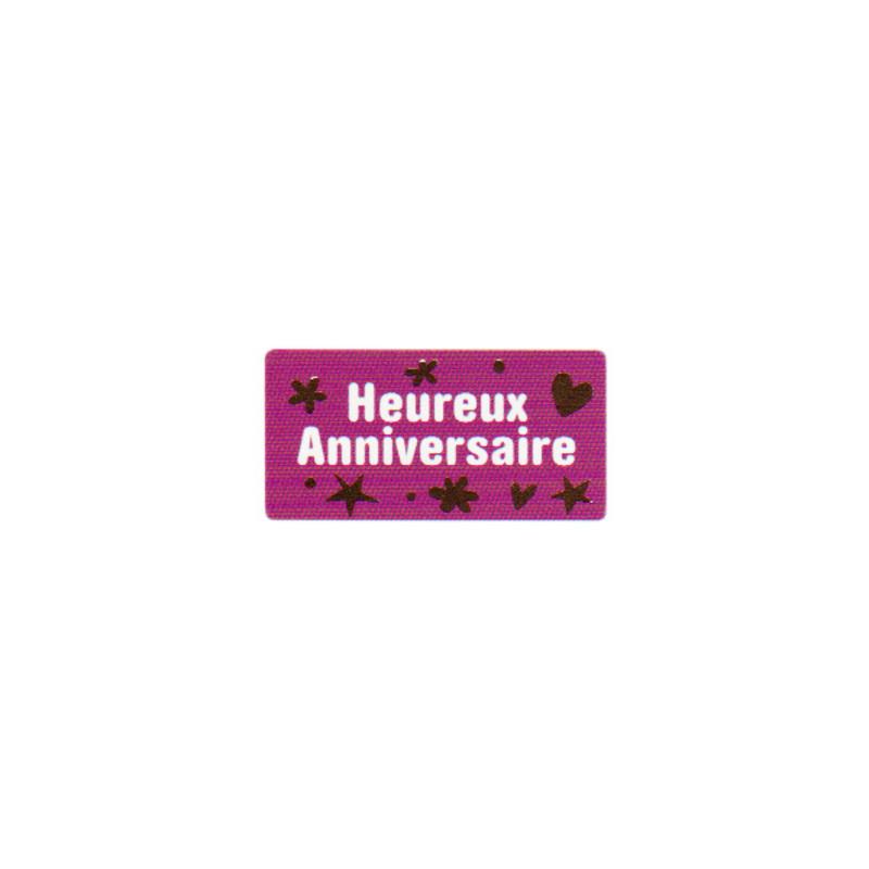 Etiquette adhésive Heureux Anniversaire (x500)