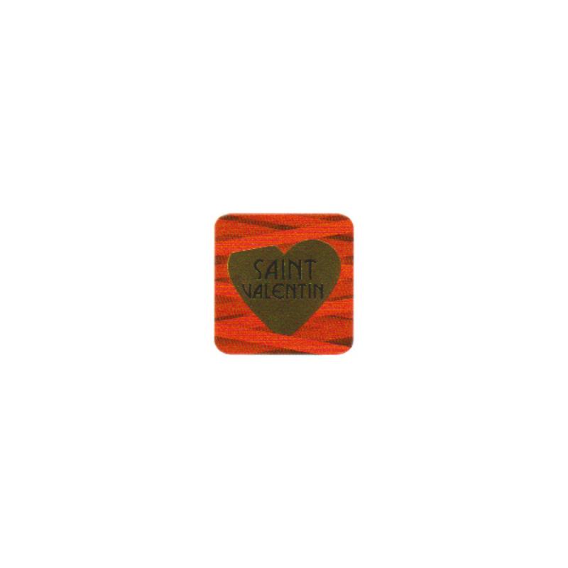 Etiquette adhésive rouge Saint Valentin (x500)