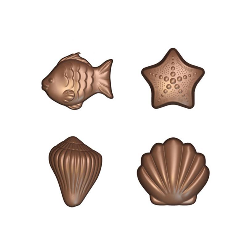 Moule à chocolat Fritures de la mer